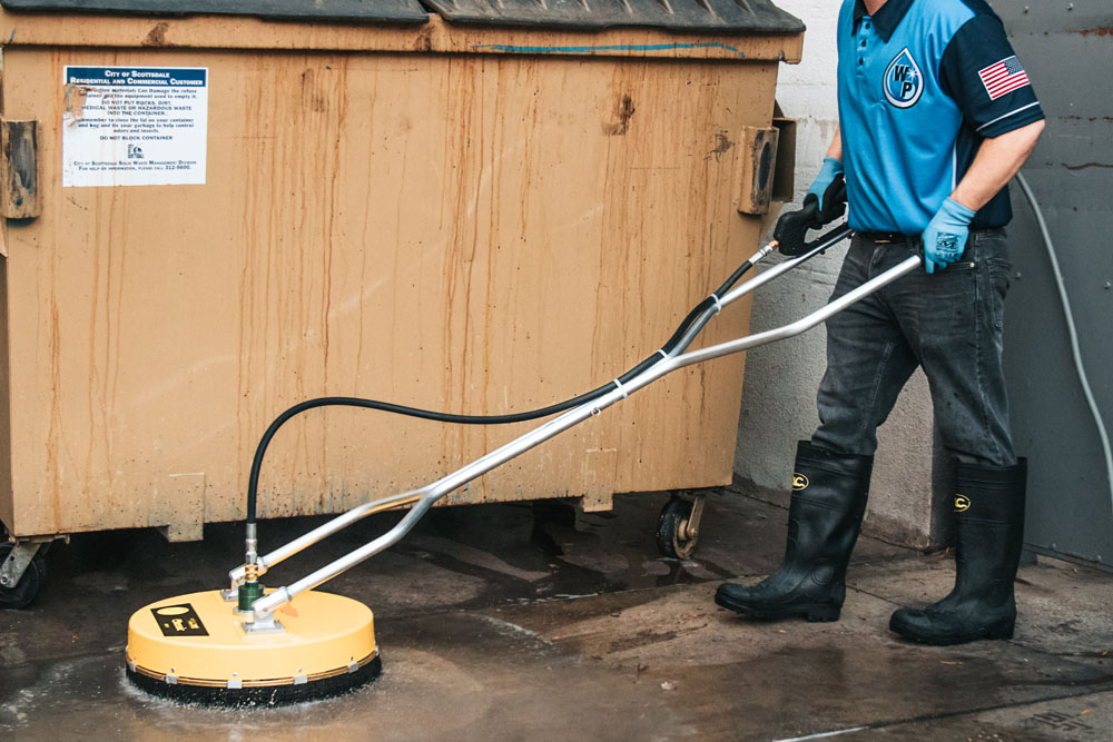 dumpster-pad-cleaning- Glendale